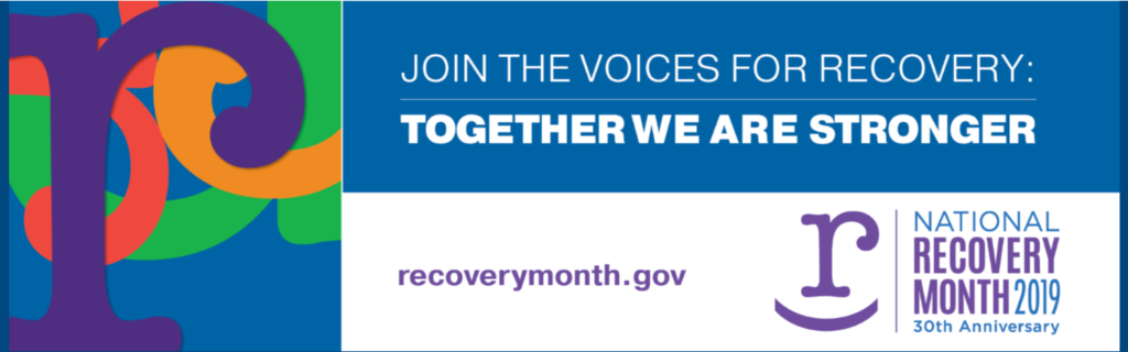 Recovery Month 2019 graphic
