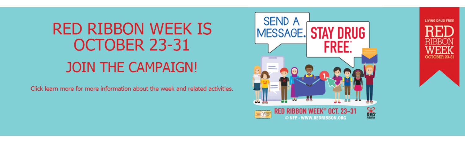 Red Ribbon Week 2019 graphic