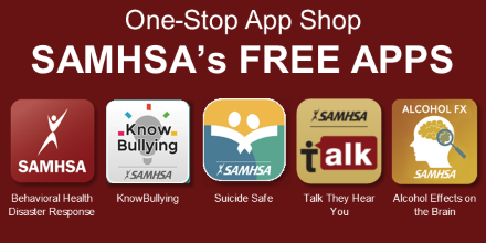 SAMHSA's Free Mobile Apps graphic