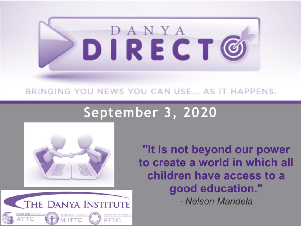 Training Bulletin graphic for September 3, 2020
