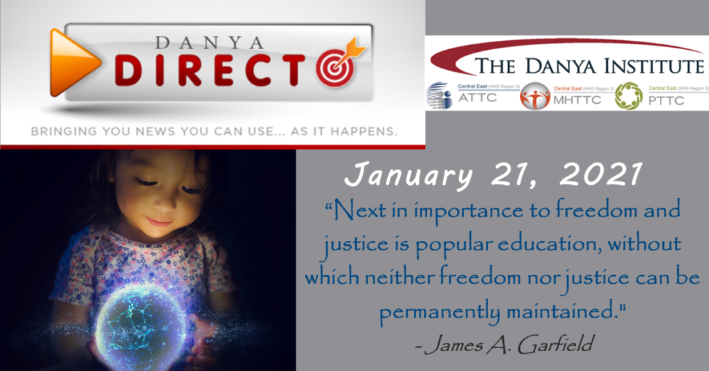 Danya Direct training bulletin graphic with a picture of a young girl looking down at a glowing globe