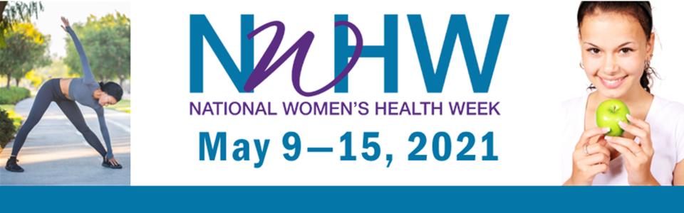National Women's Health Week banner 2021