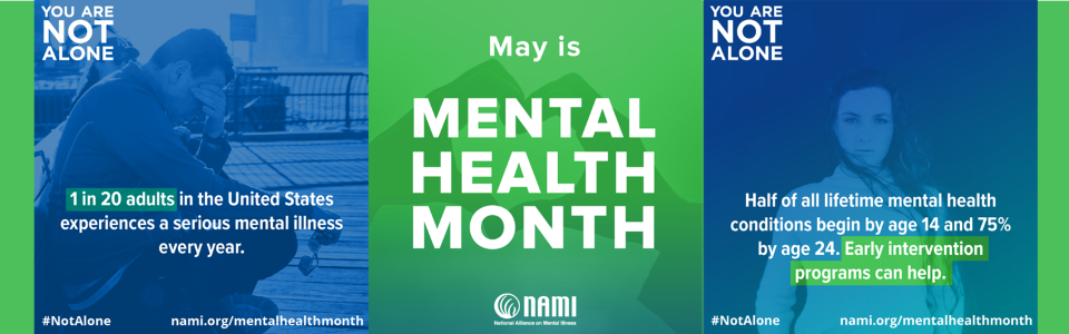 May Mental Health Month graphic